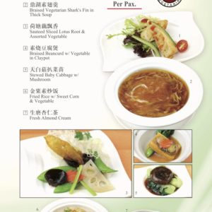 Vegetarian Set Menu 48 Per Pax